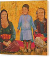 North American Native Family  Wood Print