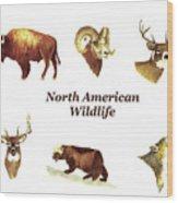 North American Wildlife Wood Print