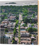 North Ave New Rochelle Wood Print