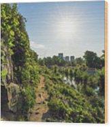 North Bank Trail Cliff Wood Print