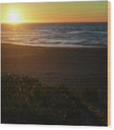 North Beach Sunset Wood Print