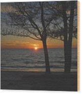 North Beach Sunset Wood Print by David Lee Thompson