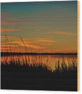 North Bridge Park Sunset Wood Print