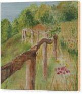 North Carolina Apple Orchard Wood Print