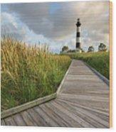 North Carolina Bodie Island Lighthouse Summer Wood Print