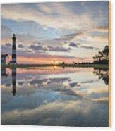 North Carolina Bodie Island Lighthouse Sunrise Wood Print