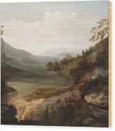 North Carolina Mountain Landscape Wood Print