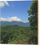 North Carolina Mountains In The Summer Wood Print