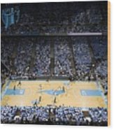 North Carolina Tar Heels Dean E. Smith Center Wood Print by Replay Photos