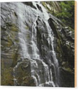 North Carolina Waterfall Hickory Nut Falls Photography  Wood Print