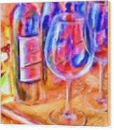 North Carolina Wine Wood Print by Marilyn Sholin