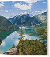 North Cascades Wood Print by Niels Nielsen