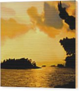 North Channel Sunset Wood Print