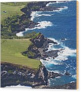 North Coast Of Maui Wood Print