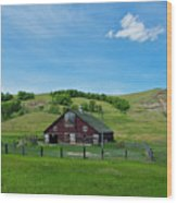 North Dakota Barn Wood Print