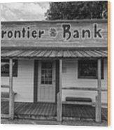 North Dakota Frontier Bank Wood Print
