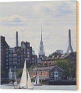 North End  Of Boston  Wood Print