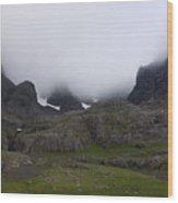North Face Wood Print