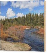 North Fork Deer Creek Wood Print