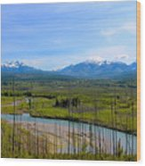 North Fork Flathead River Wood Print
