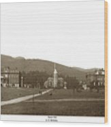 North Hall, Bacon Hall, Library, South Hall, University Of Calif Wood Print