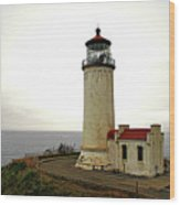 North Head Lighthouse - Graveyard Of The Pacific - Ilwaco Wa Wood Print