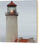 North Head Lighthouse - Ilwaco On Washington's Southwest Coast Wood Print by Christine Till