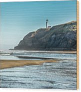 North Head Lighthouse With The Morning Light Wood Print