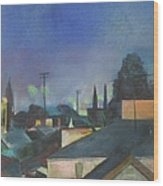 North Hollywood Sky Line Wood Print