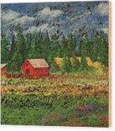 North Idaho Farm Wood Print