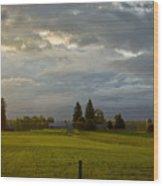North Idaho Sunrise Wood Print