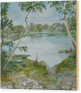 North Lake Wood Print by Dorothy Herron