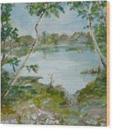 North Lake Wood Print