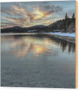 North Lake Tahoe Spring Sunset Wood Print