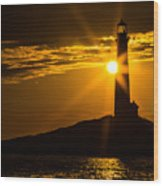 North Light Sunflare Wood Print