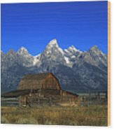 North Moulton Barn Grand Tetons Wood Print