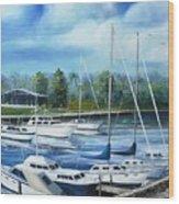 North Myrtle Beach Marina Wood Print