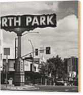 North Park San Diego Wood Print