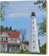 North Point Lighthouse Wood Print