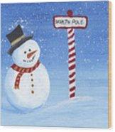 North Pole Wood Print