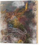 North Rim Of The Grand Canyon Wood Print