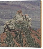 North Rim Rock Wood Print