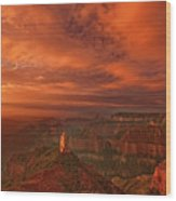 North Rim Storm Clouds Grand Canyon National Park Arizona Wood Print