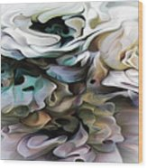 North Shore Abstract Wild Flowers Wood Print