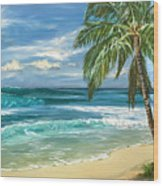 North Shore Wood Print by Lisa Reinhardt