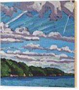North Shore Stratocumulus Streets Wood Print
