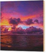 North Shore Sunset  Wood Print