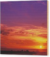 North Shore Sunset Wood Print by Vince Cavataio - Printscapes