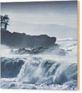 North Shore Waimea Bay Wood Print