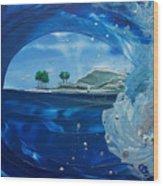 North Shore Window Barrel  Right Wood Print